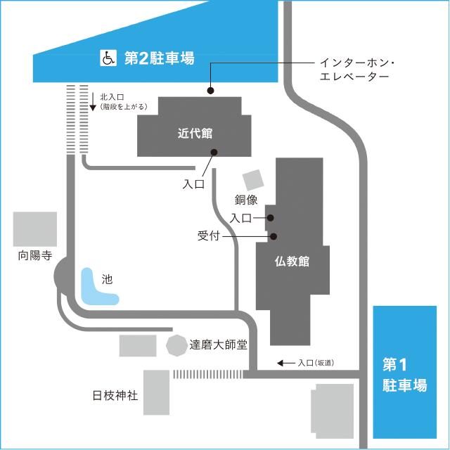 美術館内地図
