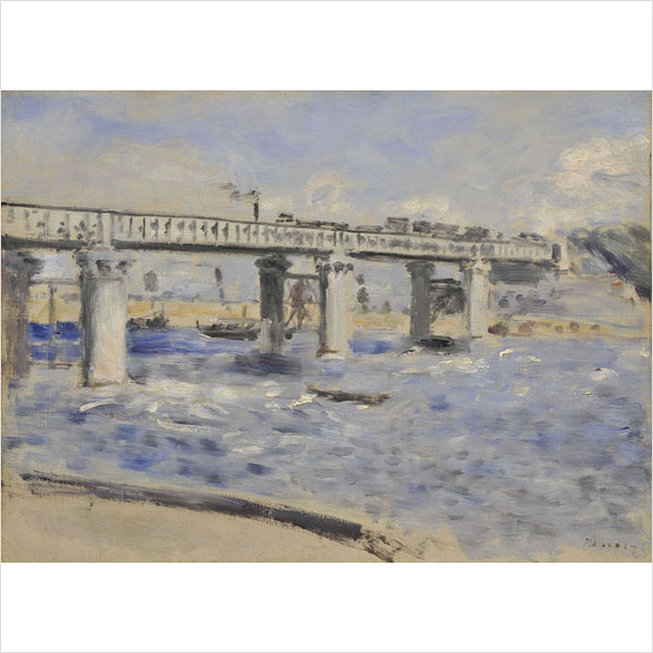 ピエール・オーギュスト・ルノアール 《アルジャントゥイユの橋》