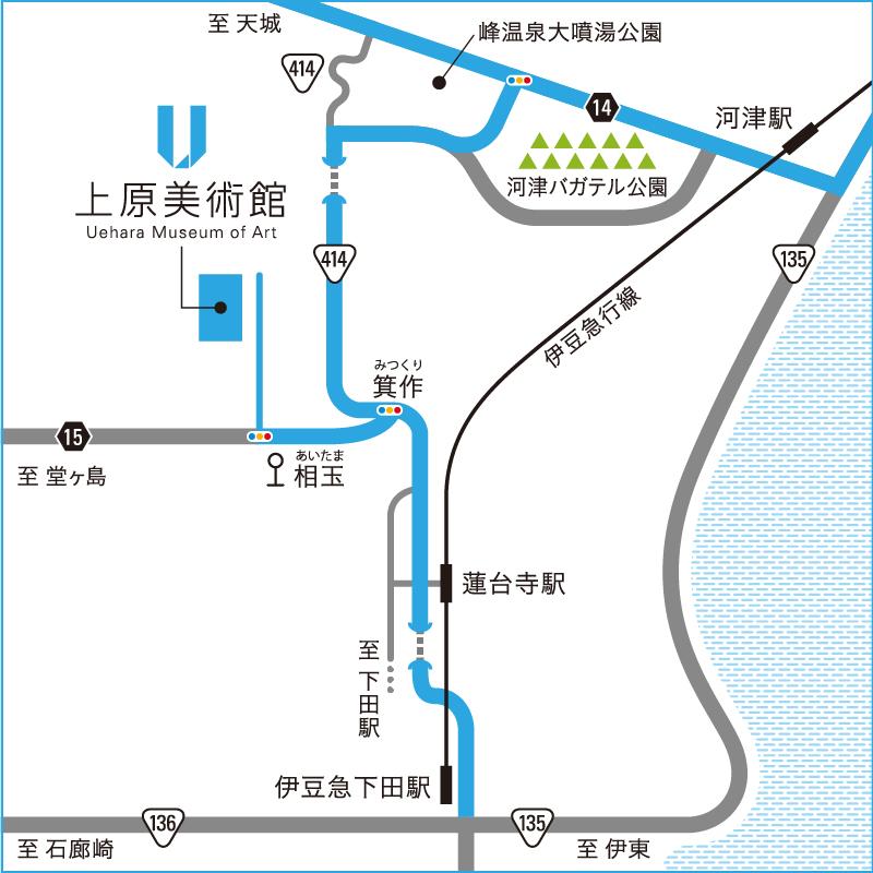 美術館周辺地図