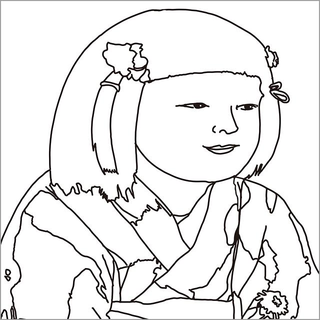 岸田劉生 《麗子微笑像》