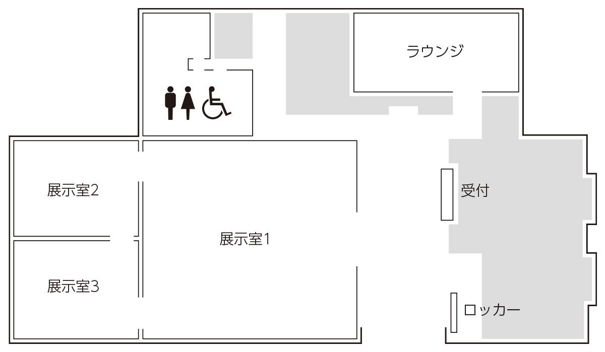 近代館館内マップ